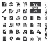 add icon set. collection of 32... | Shutterstock .eps vector #1307338774