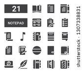 notepad icon set. collection of ...   Shutterstock .eps vector #1307338831