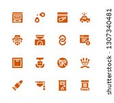 crime icon set. collection of... | Shutterstock .eps vector #1307340481