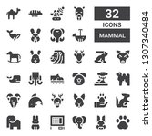 mammal icon set. collection of...   Shutterstock .eps vector #1307340484
