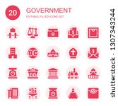 government icon set. collection ...   Shutterstock .eps vector #1307343244