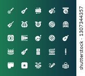song icon set. collection of 25 ... | Shutterstock .eps vector #1307344357