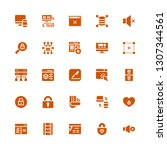 www icon set. collection of 25...   Shutterstock .eps vector #1307344561
