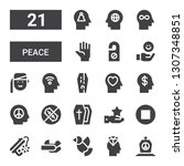 peace icon set. collection of... | Shutterstock .eps vector #1307348851