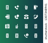 receiver icon set. collection... | Shutterstock .eps vector #1307348941