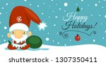 merry christmas and happy new... | Shutterstock . vector #1307350411