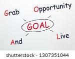goal acronym  grab opportunity...   Shutterstock . vector #1307351044