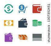 9 exchange icons. trendy... | Shutterstock .eps vector #1307352451