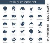 wildlife icons. trendy 25... | Shutterstock .eps vector #1307356054