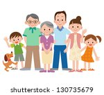 three generation family | Shutterstock . vector #130735679