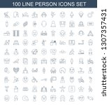 100 person icons. trendy person ... | Shutterstock .eps vector #1307357431