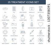 25 treatment icons. trendy... | Shutterstock .eps vector #1307358391
