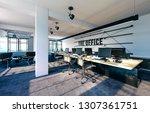 3d modern office interior render | Shutterstock . vector #1307361751