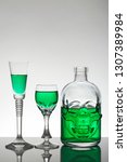 a skull bottle and crystal... | Shutterstock . vector #1307389984