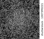 curly clouds seamless pattern.... | Shutterstock .eps vector #1307390221