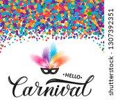 carnival calligraphy lettering...   Shutterstock .eps vector #1307392351
