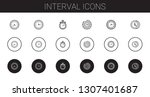interval icons set. collection... | Shutterstock .eps vector #1307401687