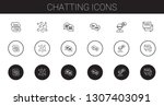 chatting icons set. collection...