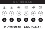 shutter icons set. collection... | Shutterstock .eps vector #1307403154