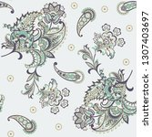 paisley floral oriental ethnic... | Shutterstock .eps vector #1307403697