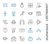 romance icons set. collection... | Shutterstock .eps vector #1307404447