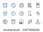 minute icons set. collection of ... | Shutterstock .eps vector #1307406034