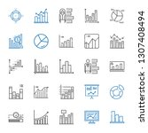 stats icons set. collection of... | Shutterstock .eps vector #1307408494