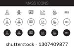 mass icons set. collection of... | Shutterstock .eps vector #1307409877