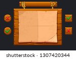 game ui kit. template wooden...