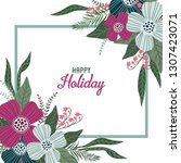 happy holiday. template for... | Shutterstock .eps vector #1307423071