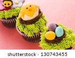 gourmet chocolate easter... | Shutterstock . vector #130743455