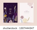 wedding invitations in a cute... | Shutterstock .eps vector #1307444347