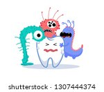 vector illustration of carious ... | Shutterstock .eps vector #1307444374