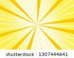 pop art yellow background ...   Shutterstock .eps vector #1307444641
