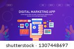 digital marketing app  mobile... | Shutterstock .eps vector #1307448697