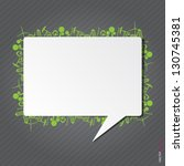 speech background with eco... | Shutterstock .eps vector #130745381