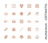 editable 25 gourmet icons for... | Shutterstock .eps vector #1307464741