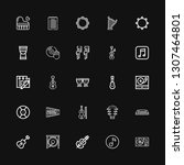 editable 25 melody icons for... | Shutterstock .eps vector #1307464801