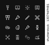 editable 16 leg icons for web... | Shutterstock .eps vector #1307469481