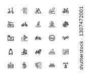 editable 25 extreme icons for... | Shutterstock .eps vector #1307472001