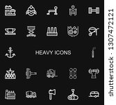 editable 22 heavy icons for web ... | Shutterstock .eps vector #1307472121