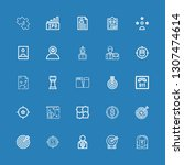editable 25 strategy icons for... | Shutterstock .eps vector #1307474614