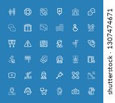 editable 36 help icons for web... | Shutterstock .eps vector #1307474671