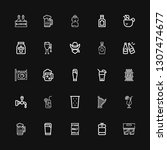 editable 25 beer icons for web... | Shutterstock .eps vector #1307474677