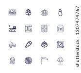 editable 16 harvest icons for... | Shutterstock .eps vector #1307474767