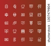 editable 25 classroom icons for ... | Shutterstock .eps vector #1307479804
