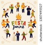 festa junina. vector templates... | Shutterstock .eps vector #1307495527