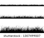 grass meadow border vector... | Shutterstock .eps vector #1307499007