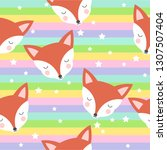 seamless pattern with cute... | Shutterstock .eps vector #1307507404