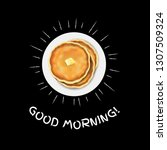 good morning poster with... | Shutterstock .eps vector #1307509324